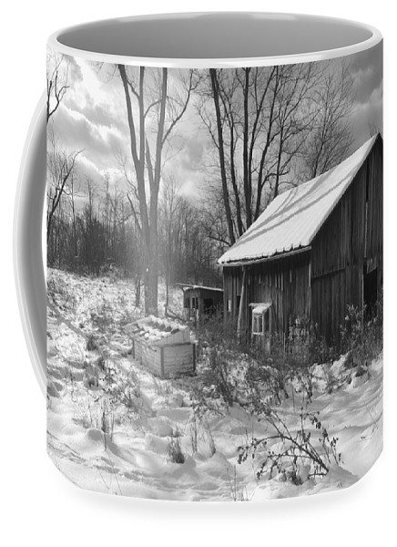 Barn Coffee Mug featuring the photograph The Evolution Of Time by Joan Kerns