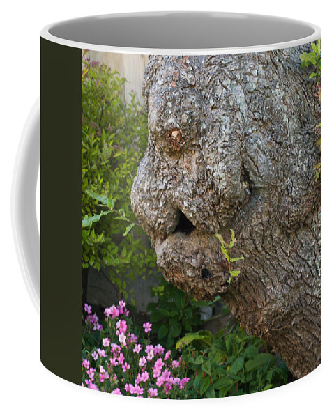 Bark Coffee Mug featuring the photograph The Face In The Tree by Steve Purnell