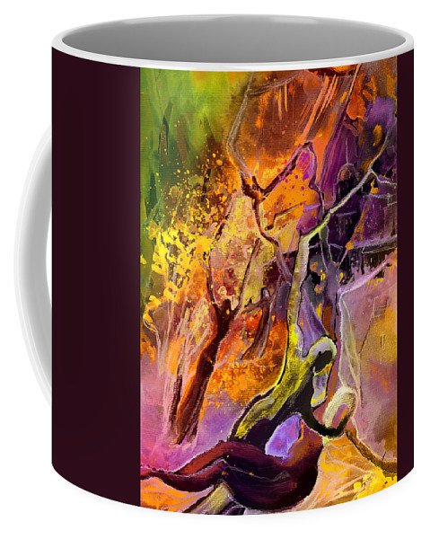 Watercolour Coffee Mug featuring the painting The Fall by Miki De Goodaboom