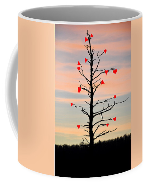The Fall Of Love Coffee Mug featuring the photograph The Fall Of Love by Bill Cannon