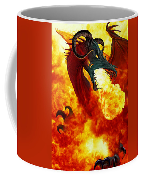 Adventure Coffee Mug featuring the photograph The Fire Dragon by The Dragon Chronicles - Garry Wa