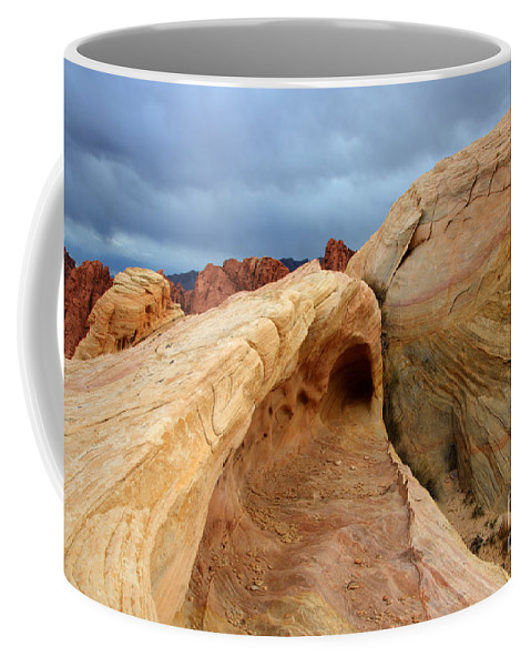 Sandstone Coffee Mug featuring the photograph The Folded Landscape by Bob Christopher
