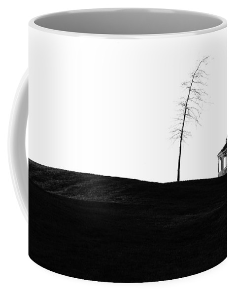 Golf Course Coffee Mug featuring the photograph The Gazebo Bw by Mike Nellums