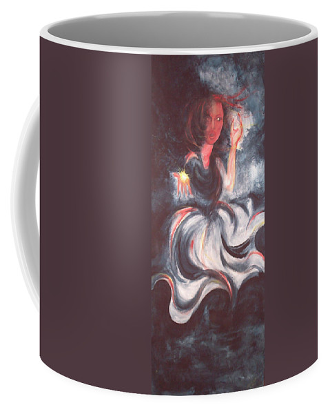 Gift Coffee Mug featuring the painting The Gift by Sheri Lauren