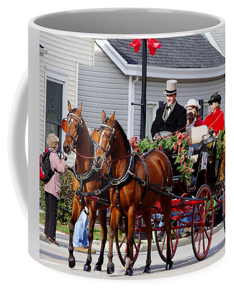lebanon Horse Carriage Parade Coffee Mug featuring the photograph The Good Old Days by Jenny Gandert