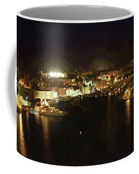 Landscape Coffee Mug featuring the digital art The Grand Harbour Of Malta by Alfie Borg