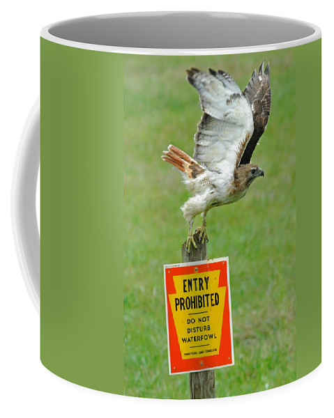 Sign Coffee Mug featuring the photograph The Guardian by Craig Leaper