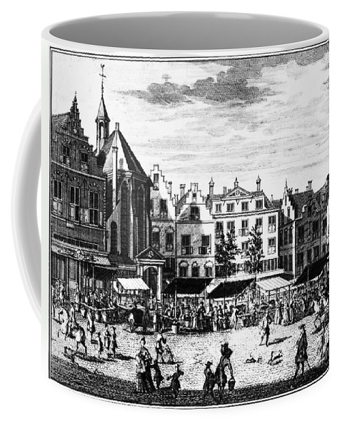 1727 Coffee Mug featuring the photograph The Hague: Market, 1727 by Granger