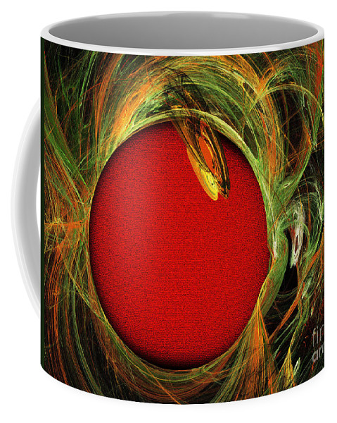 Fractal Coffee Mug featuring the digital art The Heart Of A Snake by Andee Design