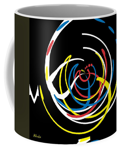 Help Coffee Mug featuring the digital art The Help Desk by Alec Drake