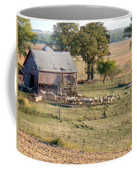 Sheep Coffee Mug featuring the photograph The Herd by Bonfire Photography