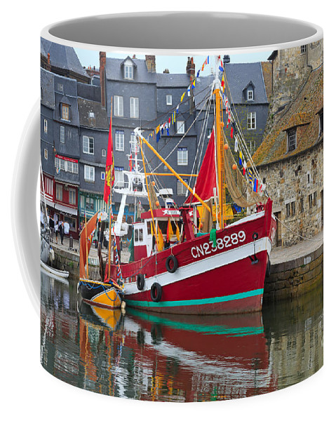 Honfleur Coffee Mug featuring the photograph The Historic Fishing Village Of Honfleur by Louise Heusinkveld