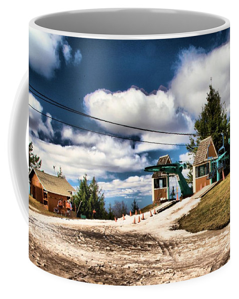 Skiing Coffee Mug featuring the photograph The Last Chair by Adam Jewell