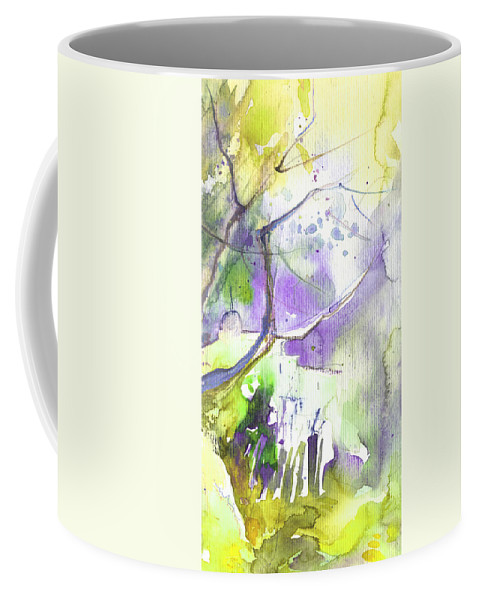 Light Coffee Mug featuring the painting The Light On Planet Goodaboom by Miki De Goodaboom