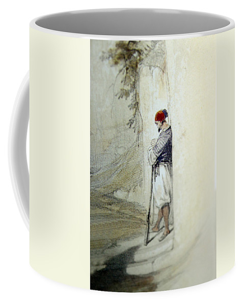 Man Coffee Mug featuring the photograph The Lonely Man by Munir Alawi