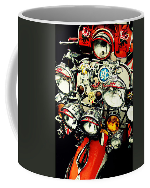 Scooter Coffee Mug featuring the photograph The Mod Generation by Mal Bray