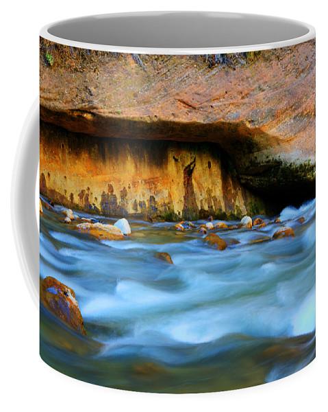 Virgin River Coffee Mug featuring the photograph The Narrows Virgin River Zion 4 by Bob Christopher