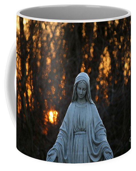 Mother Mary Statue Coffee Mug featuring the photograph The Offering by Neal Eslinger