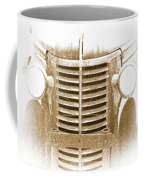 Truck Coffee Mug featuring the photograph The Old Chevrolet by Terry Fiala