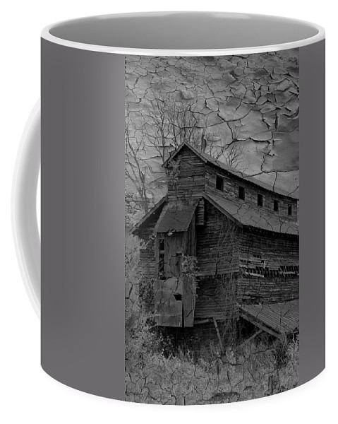 Abandoned Coffee Mug featuring the photograph The Old Douglassville Hotel by Trish Tritz