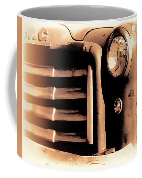 Truck Coffee Mug featuring the photograph The Old Gmc by Terry Fiala