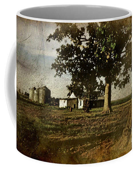 Landscape Coffee Mug featuring the photograph The Old Home Place by Debbie Portwood
