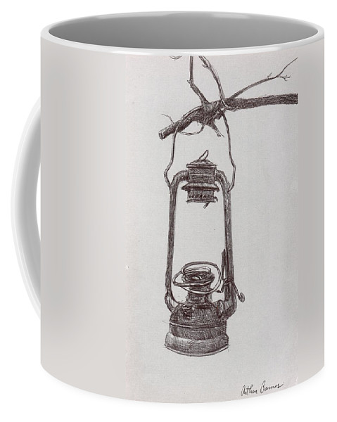Americana Coffee Mug featuring the painting The Old Lantern by Arthur Barnes