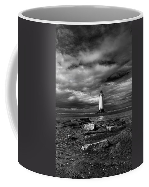 Beach Coffee Mug featuring the photograph The Old Lighthouse by Adrian Evans