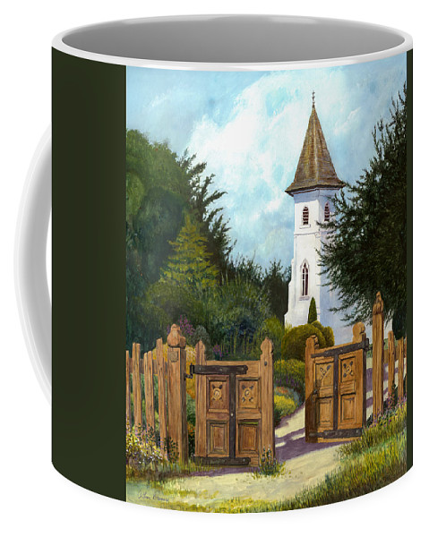 Landscape Coffee Mug featuring the painting The Open Gate by Arthur Barnes