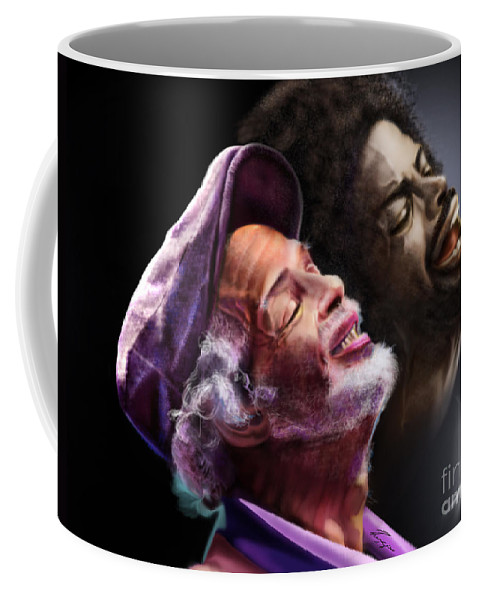 Gil Scot Heron Coffee Mug featuring the painting The Other Side-gil Scott Finally Going Home by Reggie Duffie