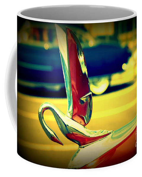Packard Coffee Mug featuring the photograph The Packard Swan by Susanne Van Hulst