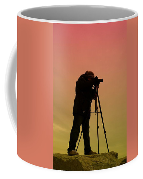 Photographer Coffee Mug featuring the photograph The Photographer by Paul Ward