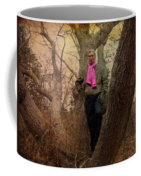 The Knob Coffee Mug featuring the photograph The Pink Scarf by Mother Nature