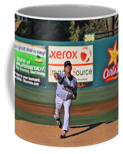 Baseball Coffee Mug featuring the photograph The Pitch by Tommy Anderson