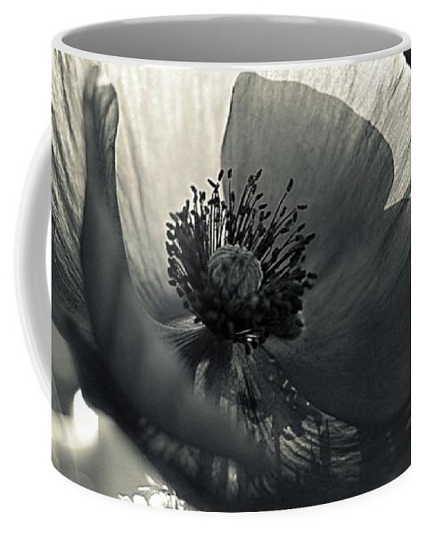 Poppy Coffee Mug featuring the photograph The Poppy by Marysue Ryan