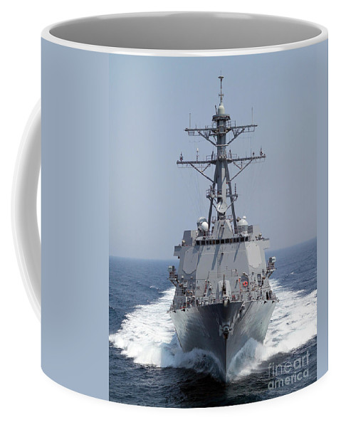 Color Image Coffee Mug featuring the photograph The Pre-commissioning Unit Guided by Stocktrek Images