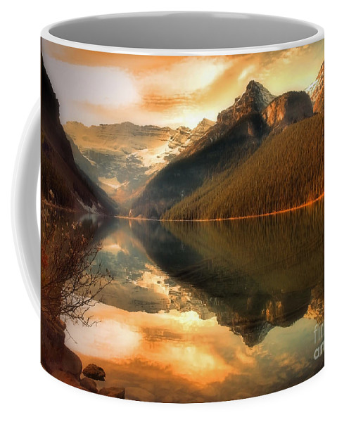 Nature Coffee Mug featuring the photograph The Quiet Golden Glow by Tara Turner