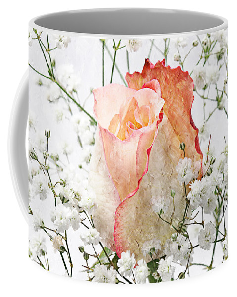 Pink Rose Coffee Mug featuring the photograph The Rose by Andee Design