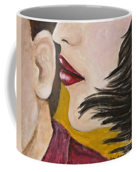 Female Coffee Mug featuring the painting The Secret by Boni Arendt