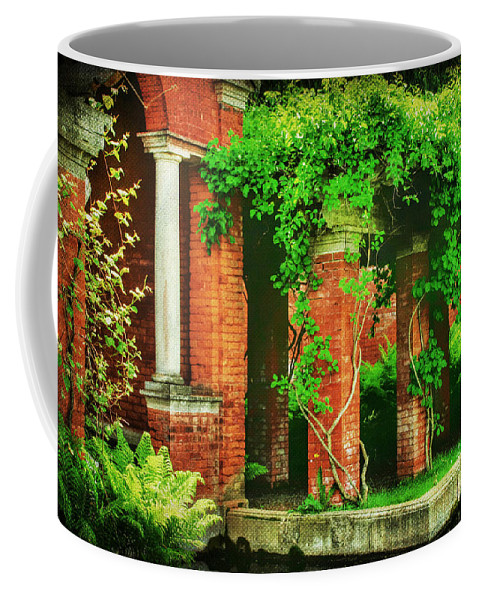 Air Coffee Mug featuring the photograph The Secret Garden by Darren Fisher