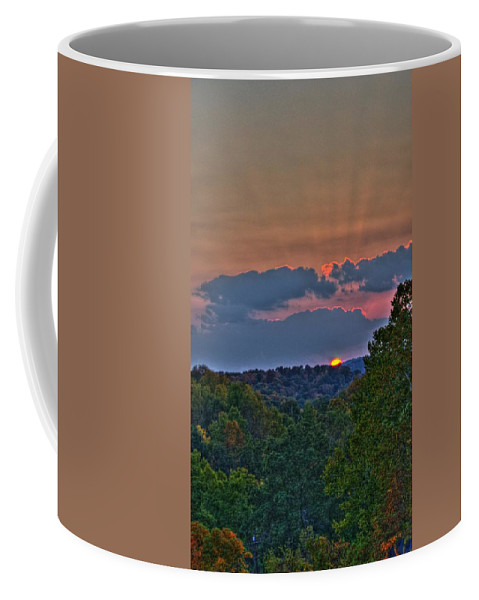Sun Coffee Mug featuring the photograph The Setting Sun by Shirley Tinkham