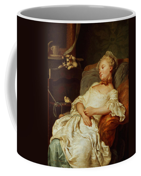 The Sleeper Coffee Mug featuring the painting The Sleeper by Jean Francois Colson