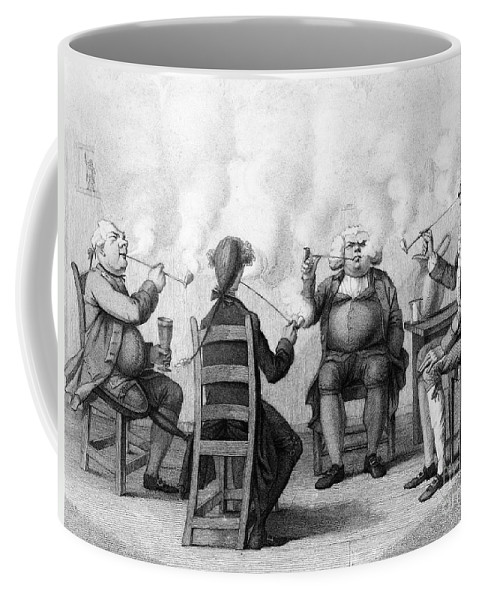 19th Century Coffee Mug featuring the photograph The Smoking Club by Granger