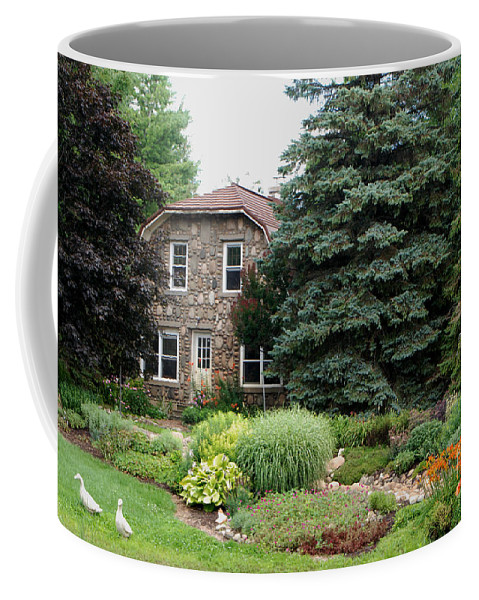 The Stone Cottage Coffee Mug featuring the photograph The Stone Cottage by Grace Grogan
