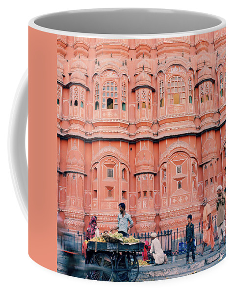 Palace Of The Winds Coffee Mug featuring the photograph Street Life Of India by Shaun Higson