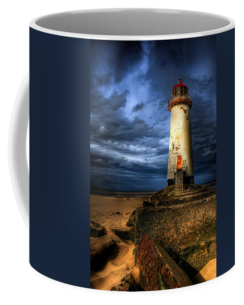 Lighthouse Coffee Mug featuring the photograph The Talacre Lighthouse by Adrian Evans