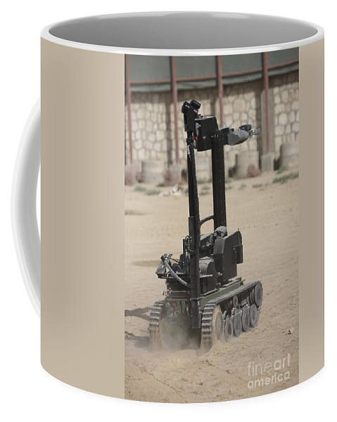German Army Coffee Mug featuring the photograph The Teodor Heavy-duty Bomb Disposal by Terry Moore
