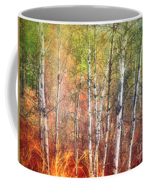 Trees Coffee Mug featuring the photograph The Trees And The Colour by Tara Turner