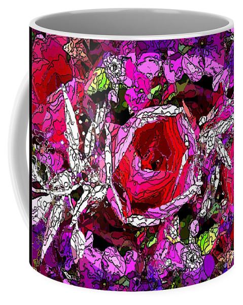 Tulip Coffee Mug featuring the digital art The Tulip by Tim Allen