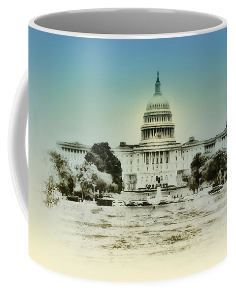 The United States Capital Building Coffee Mug featuring the photograph The United States Capital Building by Bill Cannon